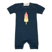 Broer & Zus Baby body navy raket