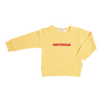 Broer & Zus Sweater Amsterdam banana-red