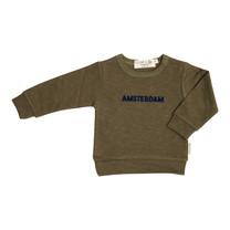 Broer & Zus Sweater Amsterdam kaki-navy