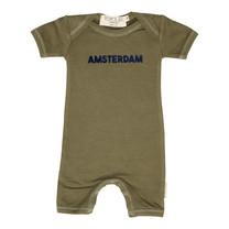 Broer & Zus Baby body Amsterdam kaki
