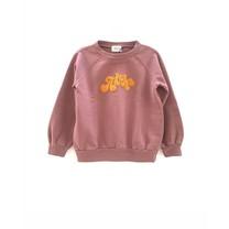 Long Live the Queen Meisjes sweater raglan old pink