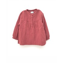 Long Live the Queen Meisjes crinkle blouse mauvewood