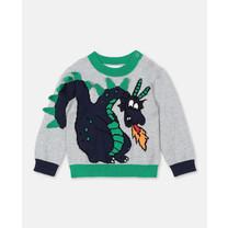 Stella McCartney kids Sweater grijs met draak