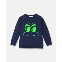 Stella McCartney kids Sweater draken ogen donkerblauw