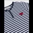 Saturn knopen T-Shirt gestreept