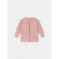 Bobo Choses All Over Stars Sweater met rits roze