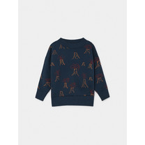 Bobo Choses All Over Volcano Sweater blauw