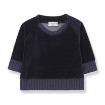 1+ in the Family Sweater Rhodes donkerblauw