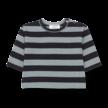 Shirt long sleeve Vienna licht/donkerblauw