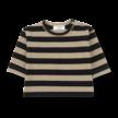 Shirt long sleeve Vienna zwart/beige