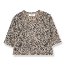 1+ in the Family Shirt long sleeve Rotterdam zwart/beige