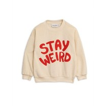 Mini Rodini Stay weird sp terry sweatshirt Offwhite