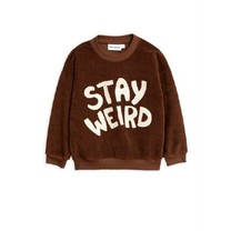 Mini Rodini Stay weird sp terry sweatshirt brown