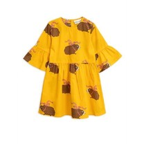 Mini Rodini Posh guinea pig dress yellow