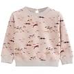 Sweater baby dierenrace donkerroze