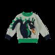 Sweater grijs met draken
