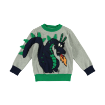 Stella McCartney kids Sweater grijs met draken