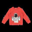 Sweater astronaut rood