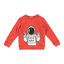 Stella McCartney kids Sweater astronaut rood