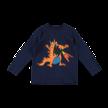 Shirt lange mouw oranje draak donkerblauw