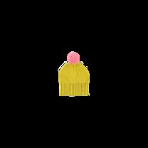 Stella McCartney kids gebreide muts geel met roze