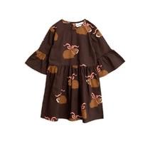 Mini Rodini Posh guinea pig dress brown