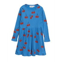 Mini Rodini Cherry ls dress Blue