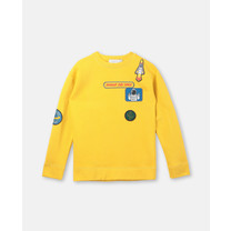 Stella McCartney kids Sweater ruimte-emblemen geel