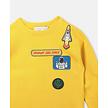 Sweater ruimte-emblemen geel