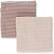 Muslin Cloth Baby 2-pack striped Roodtinten