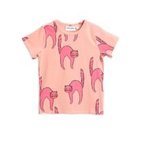 Mini Rodini Catz ss tee pink