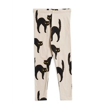 Mini Rodini Catz leggings light grey