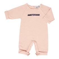 Broer & Zus Baby sweat suit Amsterdam pink