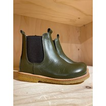 Angulus kinderschoenen Classic chelsea boot with elastic Olive/Brown