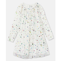 Stella McCartney kids Jurk stippen wit