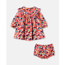 Stella McCartney kids Geweven jurk vormen veelkleuring