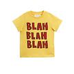 T-shirt Blah geel korte mouw