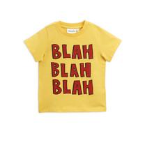 Mini Rodini T-shirt Blah geel korte mouw