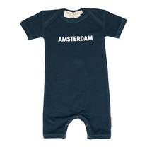 Broer & Zus Baby body Amsterdam navy