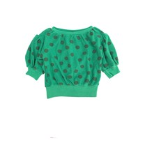 Long Live the Queen Sweater groen korte mouw dots