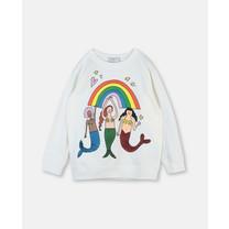Stella McCartney kids Sweater zeemeermin creme