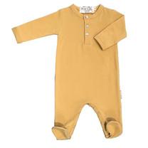 Broer & Zus Babypakje voetjes mustard