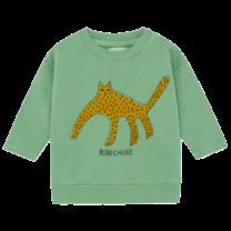 Bobo Choses Sweatshirt Leopard Aspen Groen