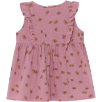 Bobo Choses Jurk Daisy Ruffle Heather Roze