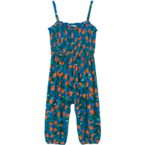 Bobo Choses Overall Oranges Smocked  Azuur Blauw