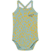 Bobo Choses Body mouwloos dierenprint Frosty Green