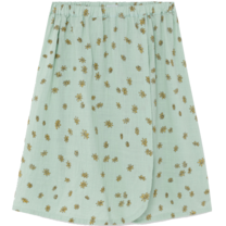 Bobo Choses Midi rok Daisy Wrap Frosty Green