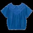 Blouse Embroidery korte mouw Azuur Blauw