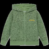 Bobo Choses Hoodie Leopard print Aspen Green