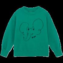 Bobo Choses Sweatshirt Olifant Cadmium Green